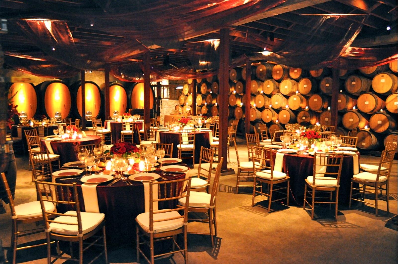4.25.10 Barrel Room | V. Sattui Winery Weddings