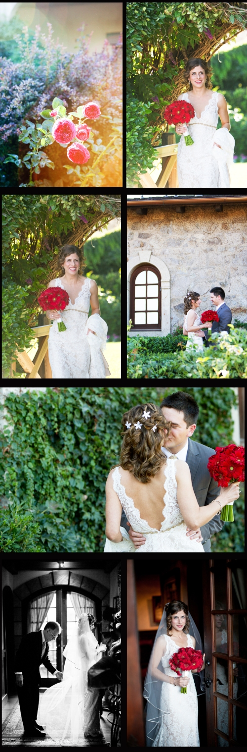 Wedding, Dress, Flowers, V. Sattui Winery, Winery